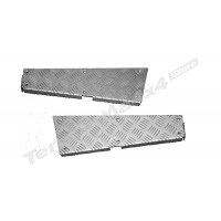 Protectie panouri coltare spate aluminiu 3mm argintiu Mammouth LR Defender tip 110 lung CNKIT01-110/A