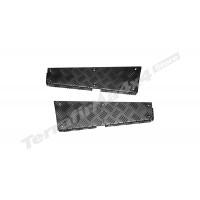Protectie panouri coltare spate aluminiu 3mm negru Mammouth LR Defender tip 110 lung CNKIT01-110/B