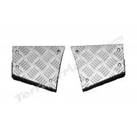 Protectie panouri coltare spate aluminiu 3mm argintiu Mammouth LR Defender tip 90 scurt CNKIT01-90/A