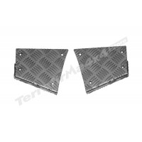 Protectie panouri coltare spate aluminiu 3mm negru Mammouth LR Defender tip 90 scurt CNKIT01-90/B