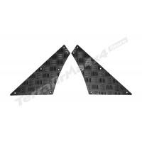 Protectie aluminiu culoare negru caroserie usi laterale spate arcade roti Mammouth LR Defender tip lung 110 RQKIT01-110/B