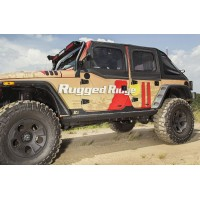 Rock Slider set cu trepte incluse Rugged Ridge Jeep Wrangler JK model 4 usi TF4028