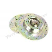 Disc frana fata ventilat Terrafirma LR Defender tip 110 lung de la 2002 cu punte tip Wolf LR018026CDG