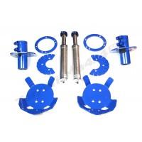 Kit 4 amortizoare hidraulice auxiliare suspensie si kit montaj Terrafirma LR Defender tip lung 110 130 TF242